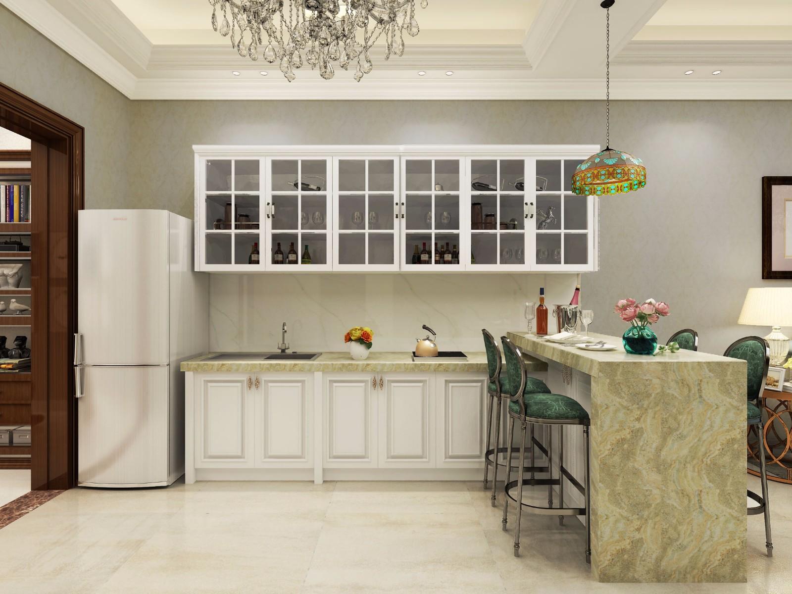 112平米混搭风格厨房装修效果图