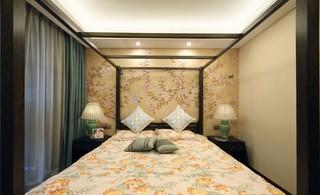 中式风格三居卧室每日首存送20