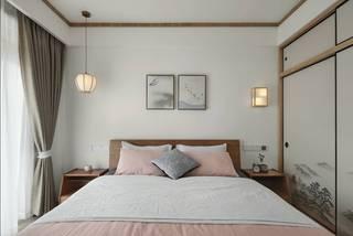 105㎡原木日式风卧室装修效果图