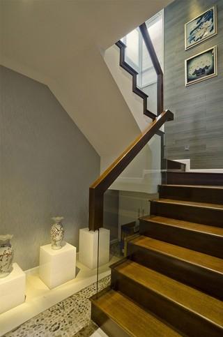 现代中式复式楼梯装修效果图