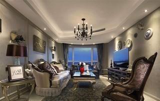 欧美风情三居客厅装修效果图