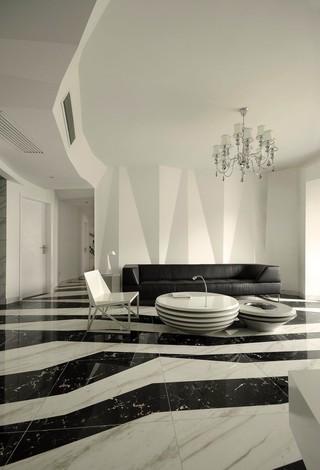 黑白简约现代风格装修效果图