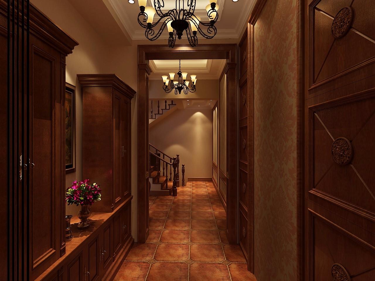 古典风格别墅走廊装修效果图