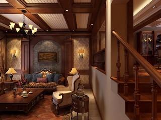古典风格别墅沙发背景墙装修效果图