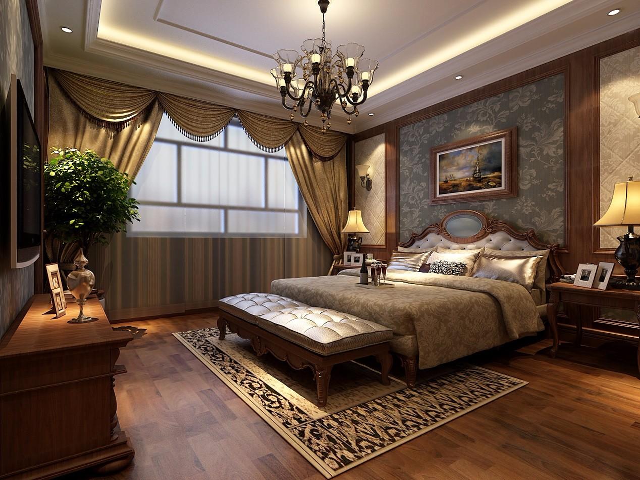 古典风格别墅卧室装修效果图