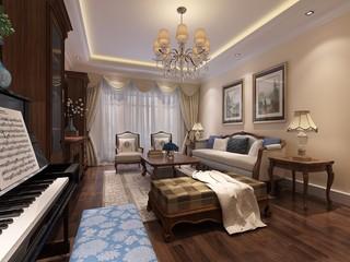 古典风格三居室装修效果图