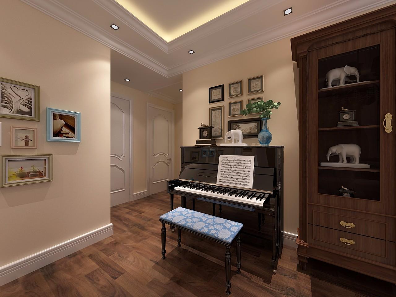 古典风格三居室钢琴区装修效果图