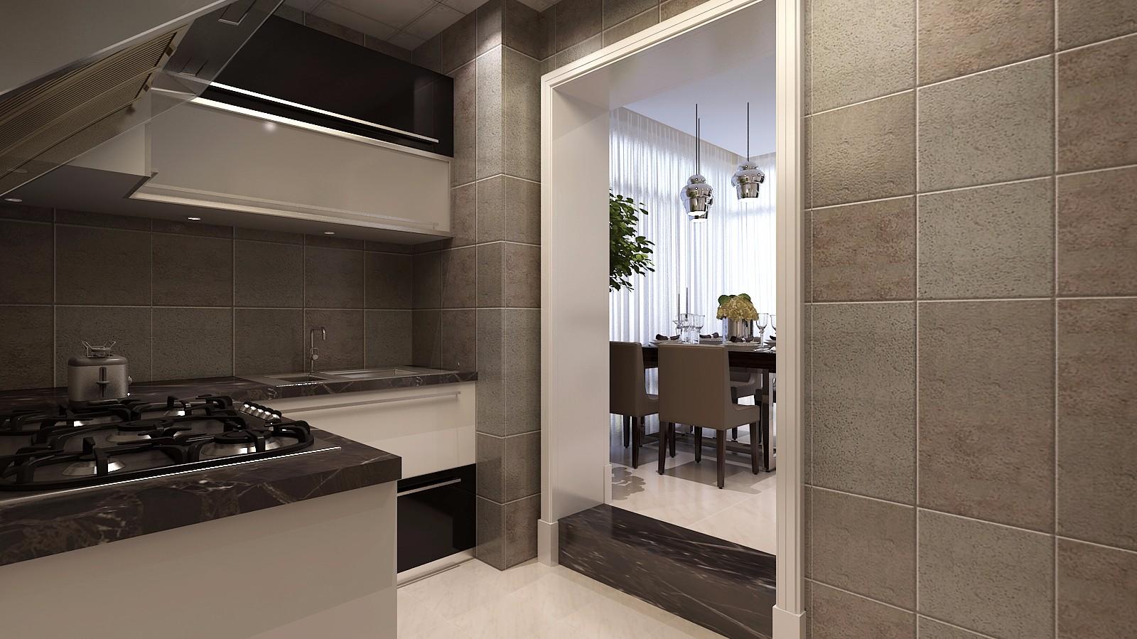 88平简约风格厨房装修效果图
