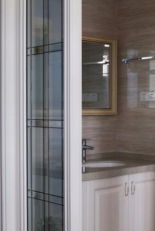 105平米美式风格洗手台装修效果图