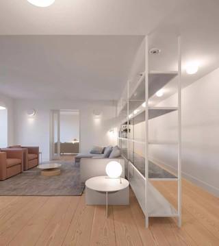 极简风格公寓装修置物架设计图