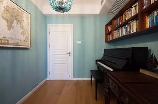 120平美式风格书房装修效果图