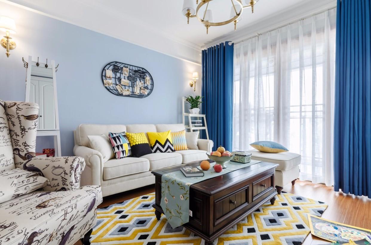现代美式风格客厅装修搭配图