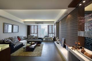 130㎡现代三居室客厅装修效果图