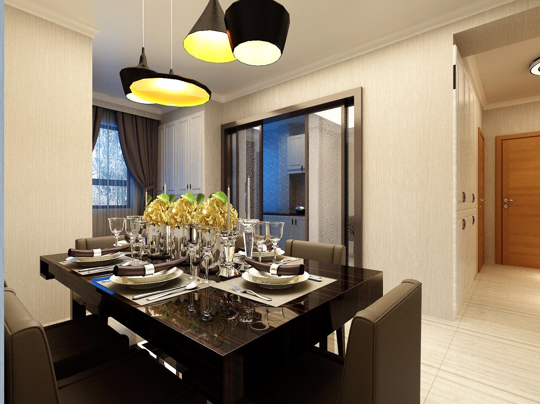 90平米两居室装修餐桌设计图
