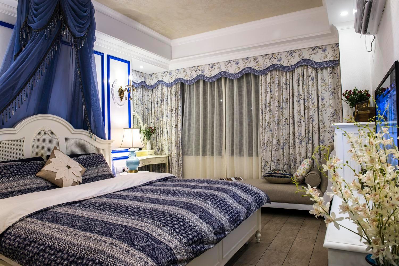 地中海风格三居卧室装修设计图