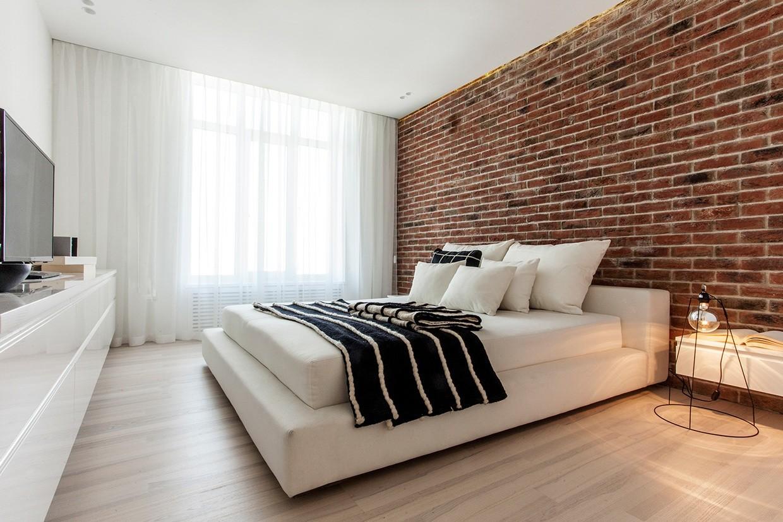 简约白色公寓卧室装修效果图