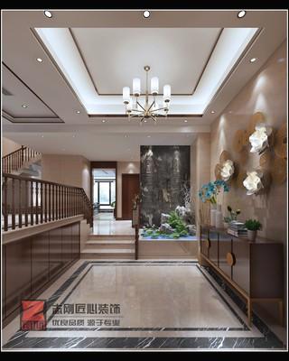 新中式风别墅玄关装修效果图