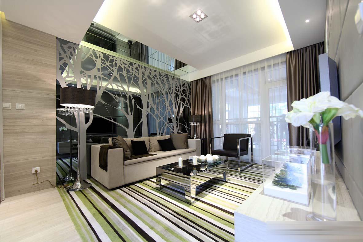 后现代风格两居客厅装修效果图