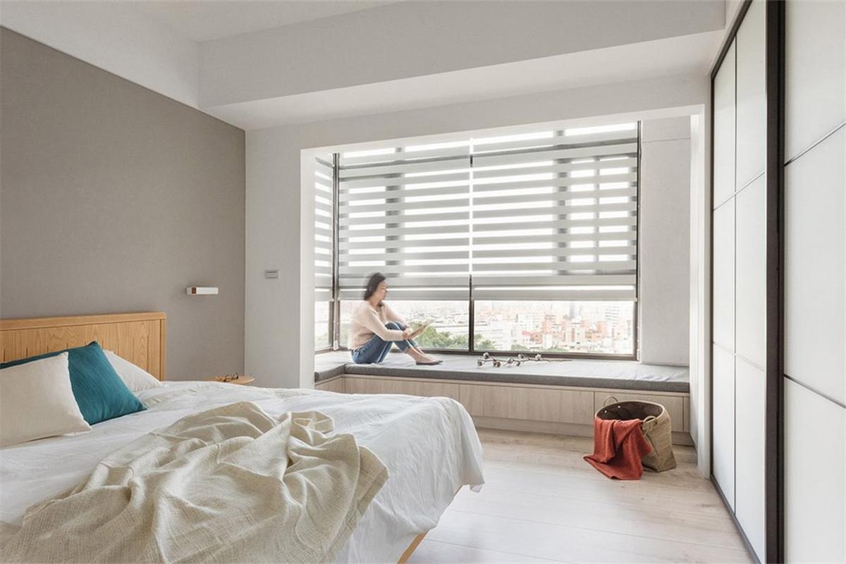 110㎡北欧风格卧室飘窗装修效果图