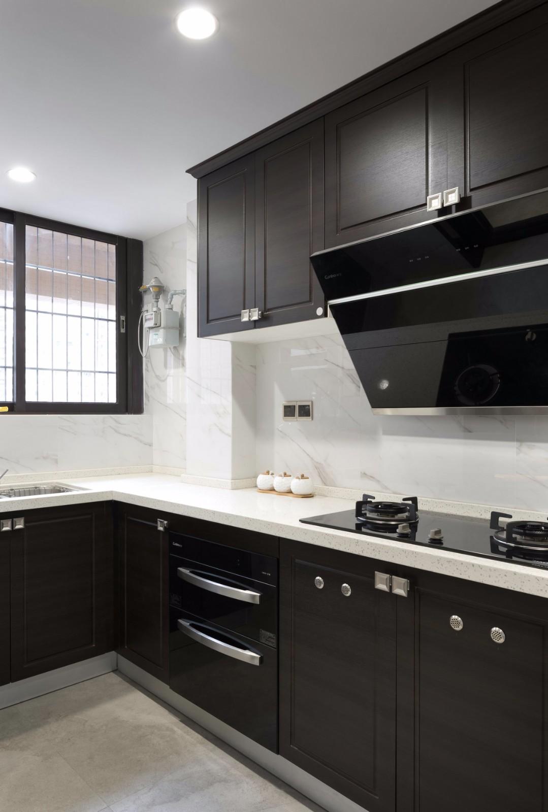 130平新中式厨房装修效果图