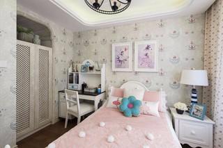 地中海风格三居儿童房装修设计图
