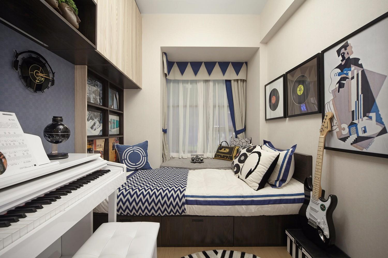 时尚轻奢三居榻榻米卧室装修效果图