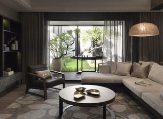 150平现代风格客厅装修效果图