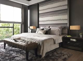 150平现代风格卧室每日首存送20
