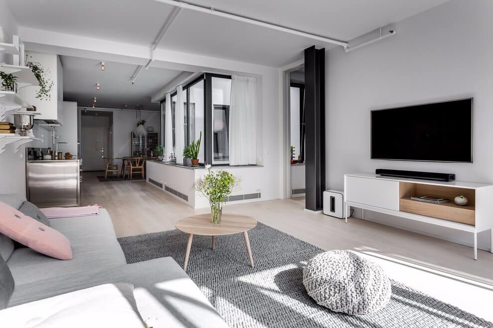 北欧风格公寓电视背景墙装修效果图