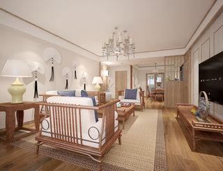 130平米新中式客厅装修效果图