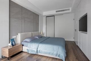 130平米现代简约卧室背景墙装修效果图
