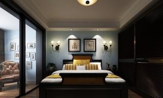 美式风格卧室背景墙装修设计效果图