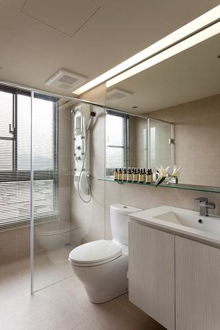 130平现代风格淋浴房装修效果图
