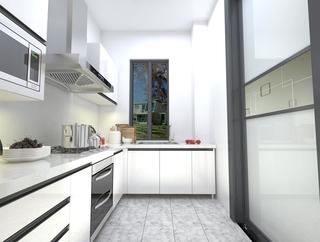 现代风格白色厨房装修效果图