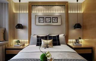 后现代风格三居卧室背景墙装修效果图