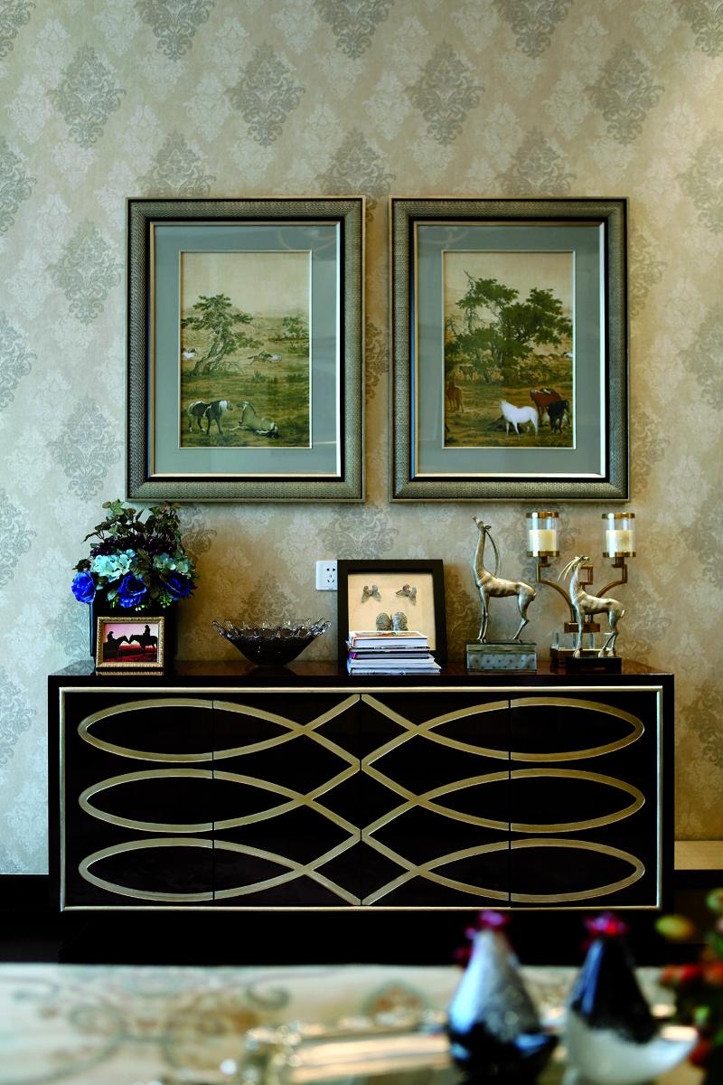新古典别墅装修装饰柜设计图