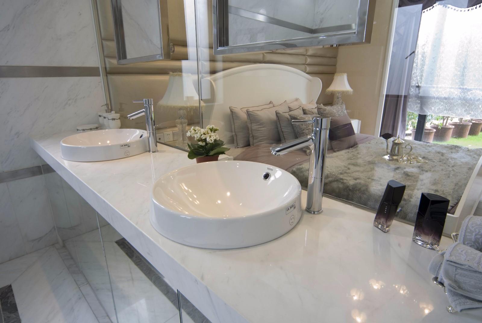 简欧风格大户型洗手台装修效果图