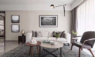 105㎡现代风格沙发背景墙装修效果图