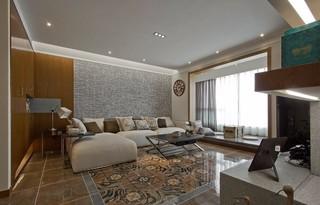 80平现代风格客厅吊顶装修效果图