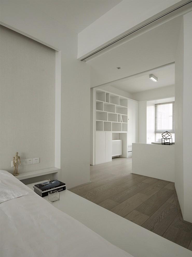 极简风格白色卧室装修效果图
