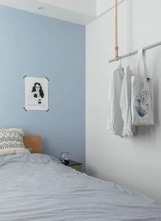 小户型北欧风卧室背景墙装修效果图