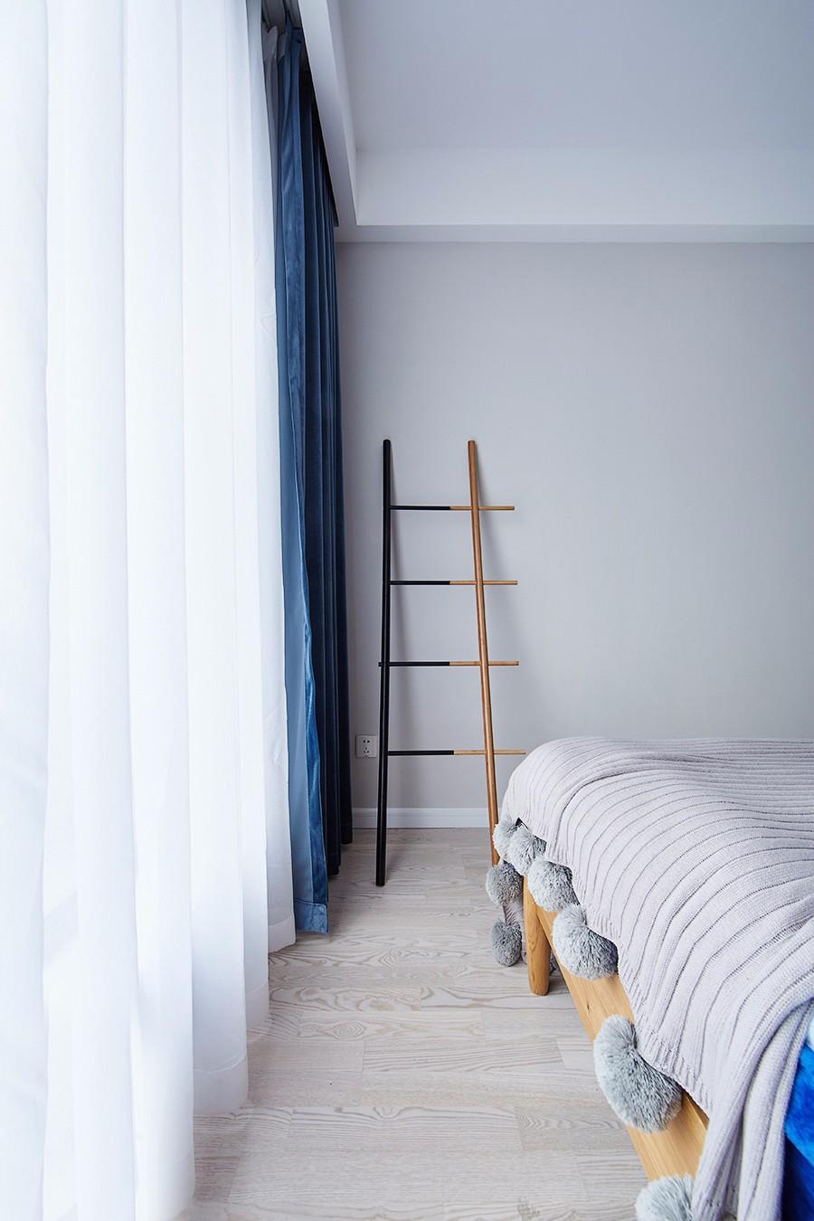 清新北欧风卧室窗帘设计效果图