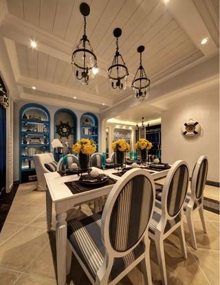 地中海风格餐厅装修设计图