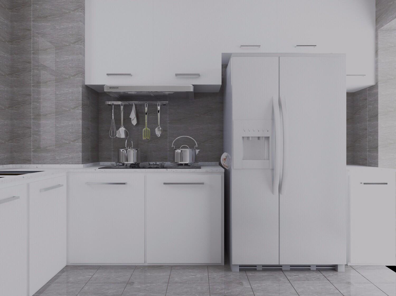 白色简约厨房装修效果图