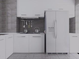 白色简约厨房每日首存送20