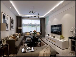 89㎡两居室客厅装修效果图