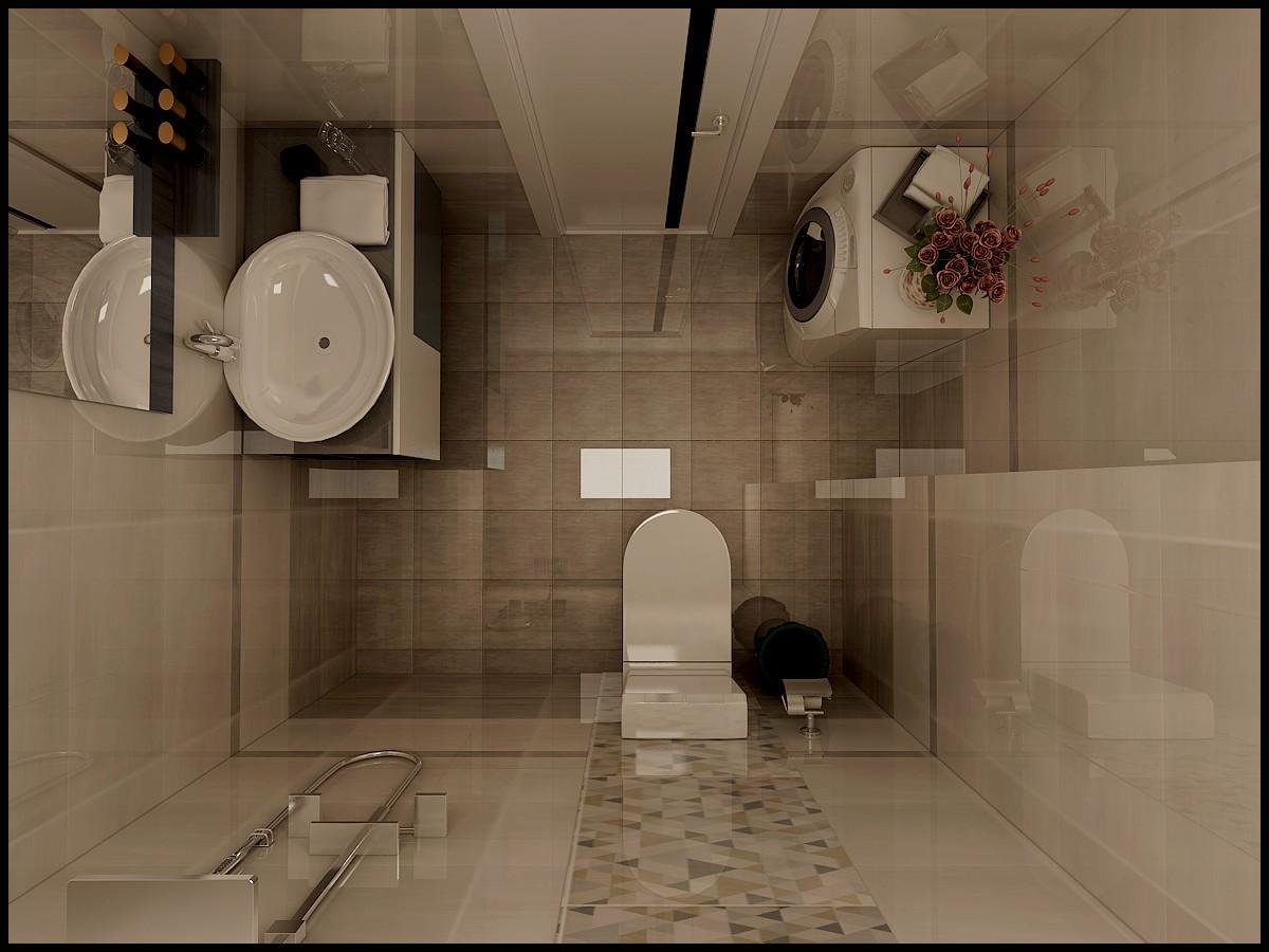 89㎡两居室卫生间装修效果图