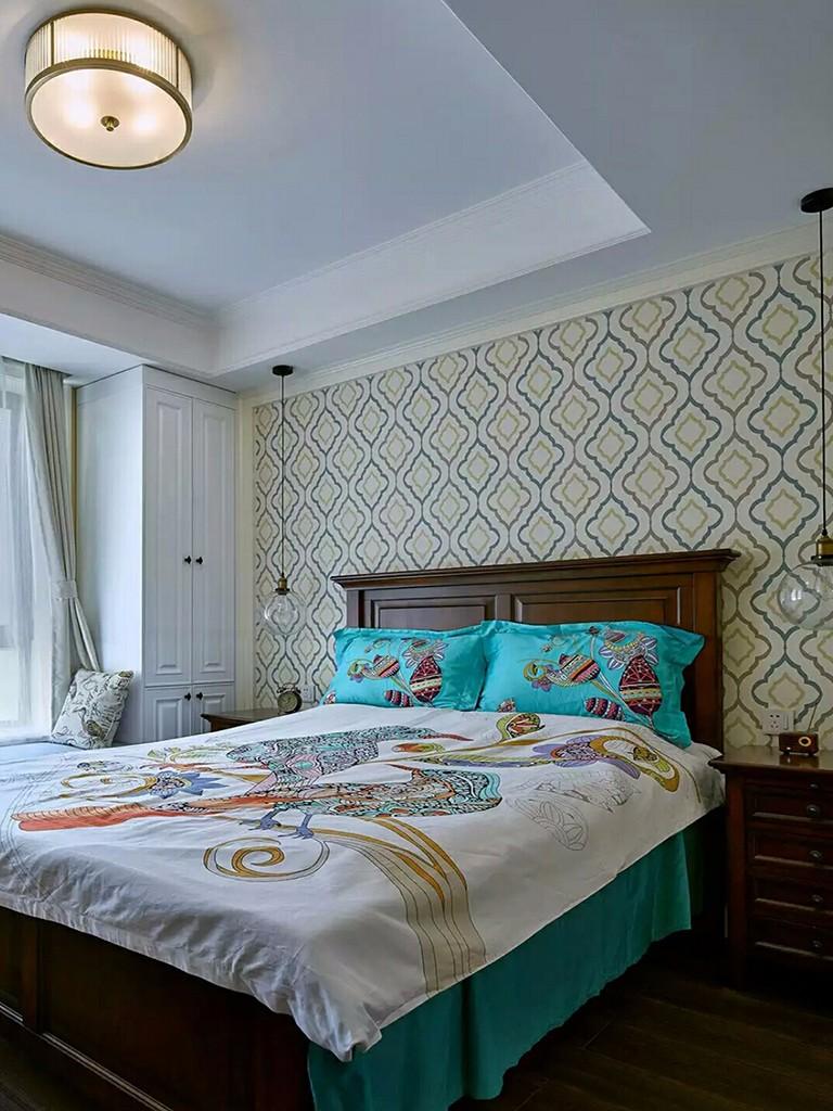 110㎡美式风格卧室装修设计图