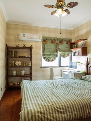 美式乡村风格卧室装修搭配图