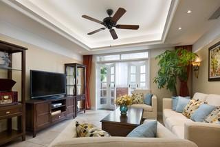 美式风格两居客厅装修设计图